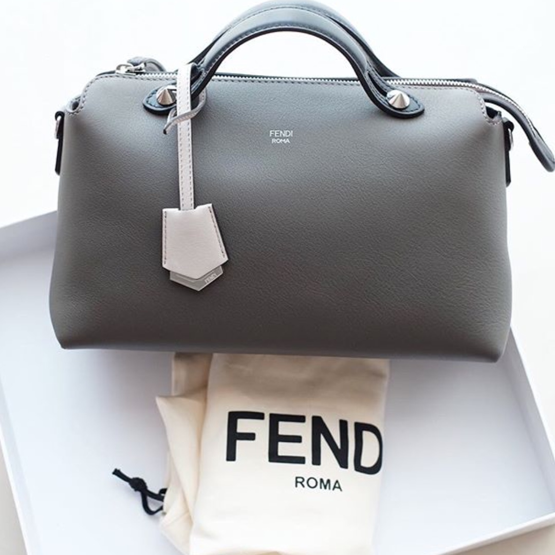 92470add7a Authentic Fendi by the way small grey carbone