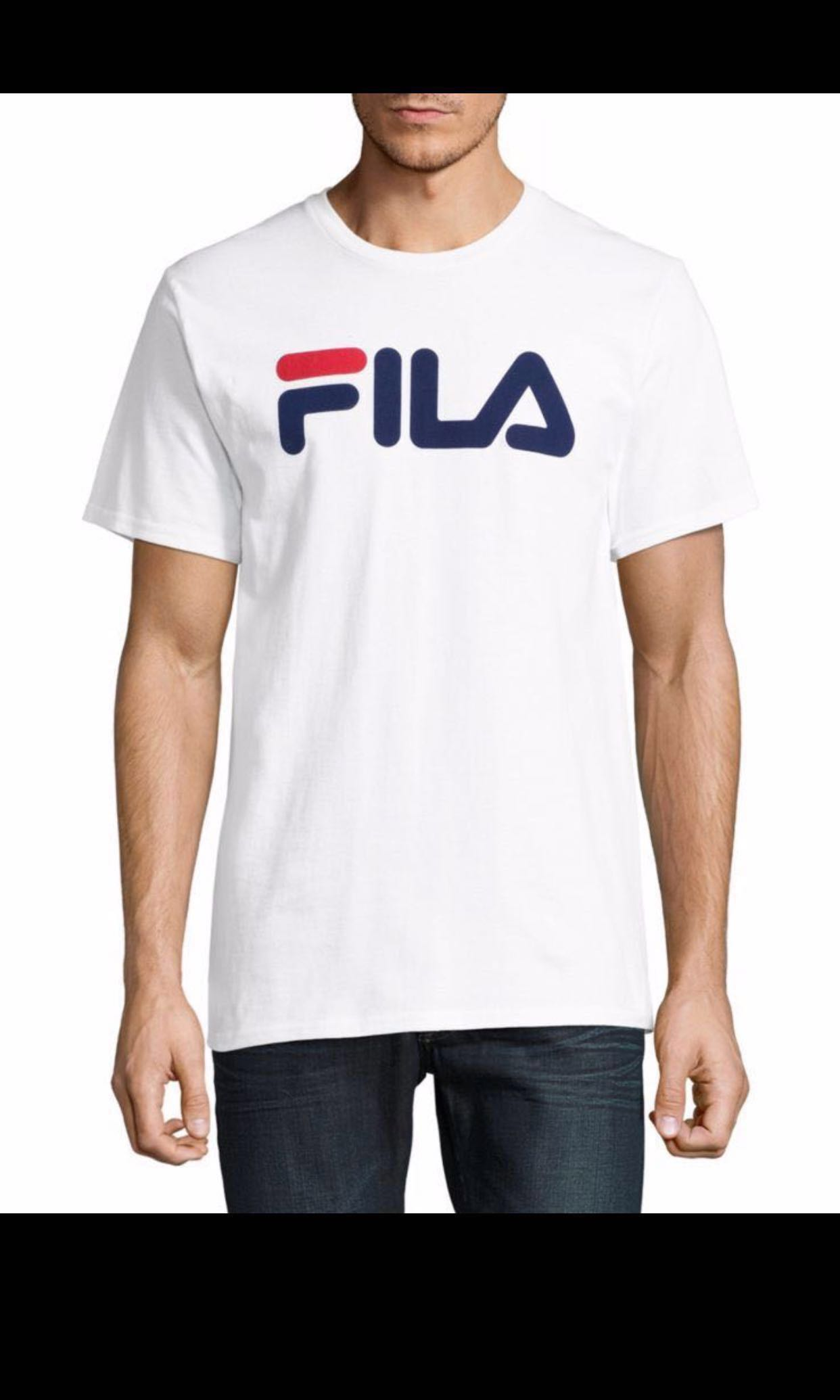 24358872 Authentic Fila Basic T-Shirt, Men's Fashion, Clothes, Tops on Carousell