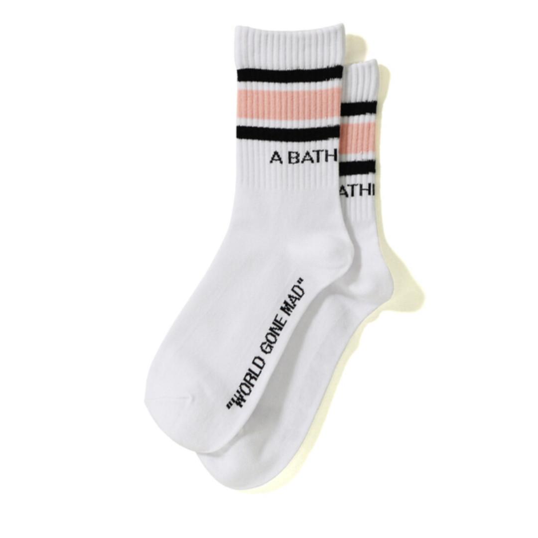 e2a5494fe5301 BAPE A Bathing Ape Line Socks, Women's Fashion, Accessories, Socks ...