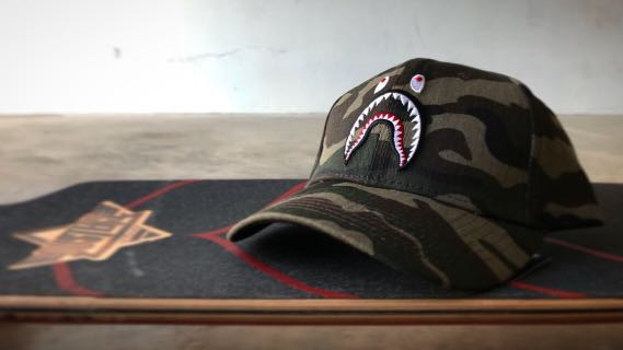 9758bb1c064b Bathing Ape Camo Shark Jaw Dad Hat