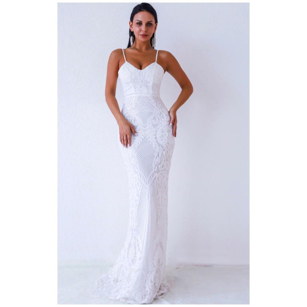 Brand new with tags women's all white wedding dress