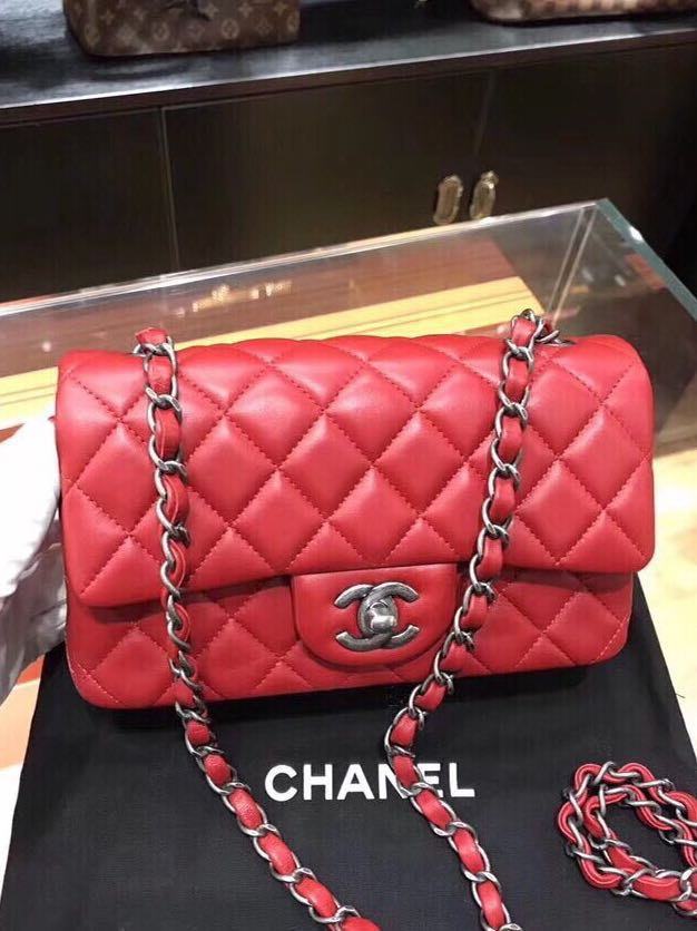 34780ada81ae Chanel Large Mini Classic Flap CF Bag Lambskin, Women's Fashion, Bags &  Wallets, Sling Bags on Carousell
