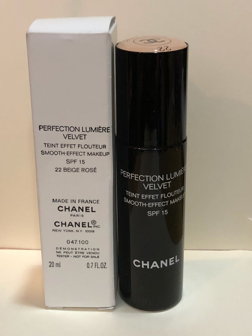 a0455ee1f574 Chanel perfection lumiere velvet foundation 22 beige rose on Carousell