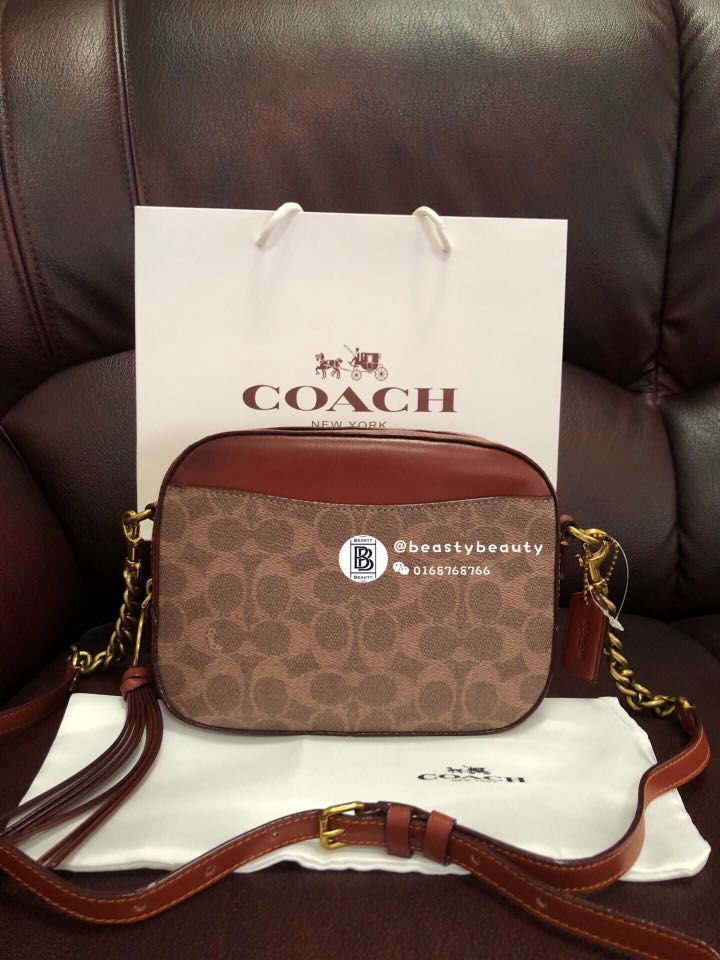 b1db4a4c087f Coach Camera Bag with Signature Canvas