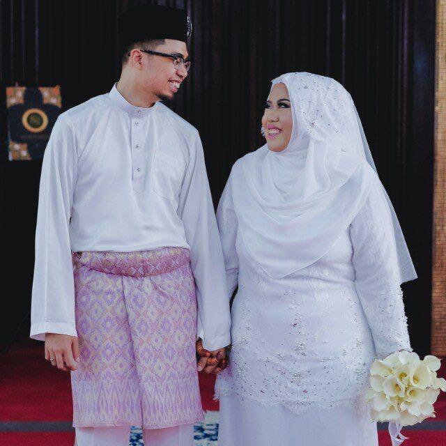 Couple set Baju Nikah Raffiey Nasir for bride & groom, Women's Fashion, Muslimah Fashion