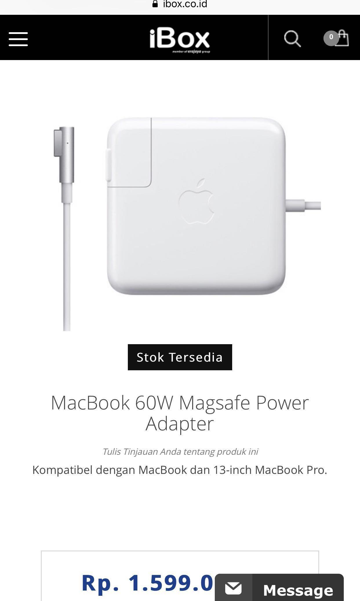 Dijual Charger Macbook Pro Original Ibox Elektronik Bagian Voucher Venom Rp 5000000 Photo