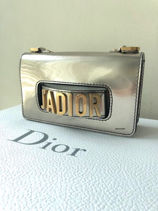 505cb29c487 Dior Mini J adior Flap Bag in Gold-Tone Metallic Calfskin, Luxury ...