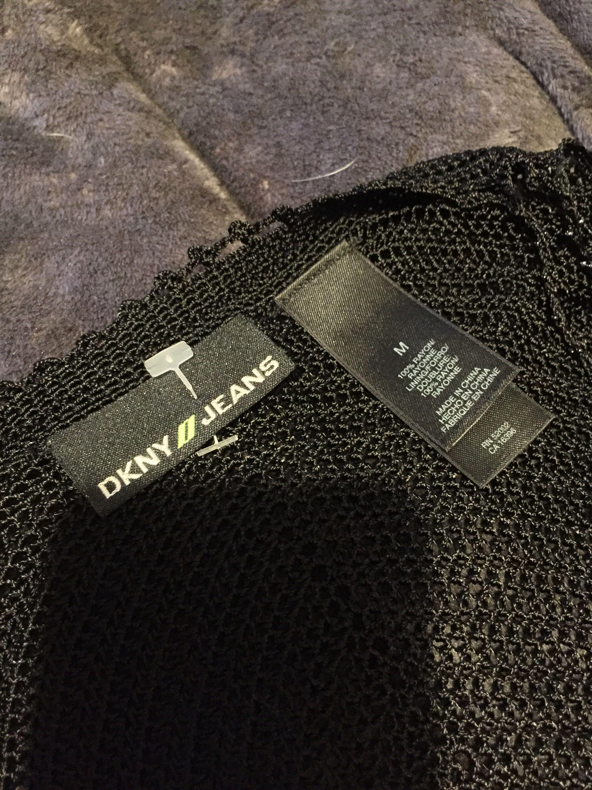 DKNY knit beaded tank