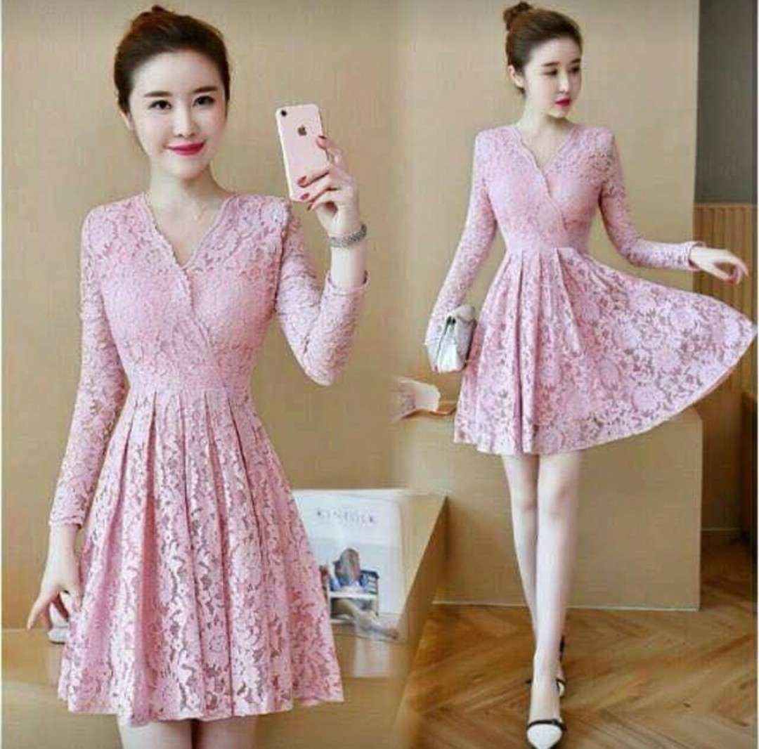 Image of: Shoulder Korean Cute Dress Womens Fashion Clothes Dresses Skirts On Carousell Wholesale7 Korean Cute Dress Womens Fashion Clothes Dresses Skirts On