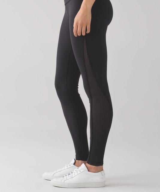 11194a6d23 Lululemon deep breath legging in black size 6, Women's Fashion ...