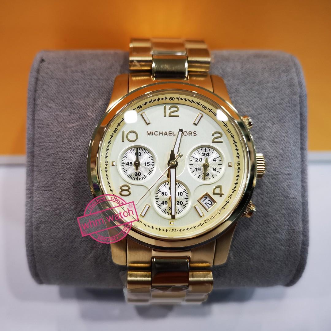 2be8c580062a MICHAEL KORS Midsized Chronograph Gold-tone Unisex Watch MK5055 ...