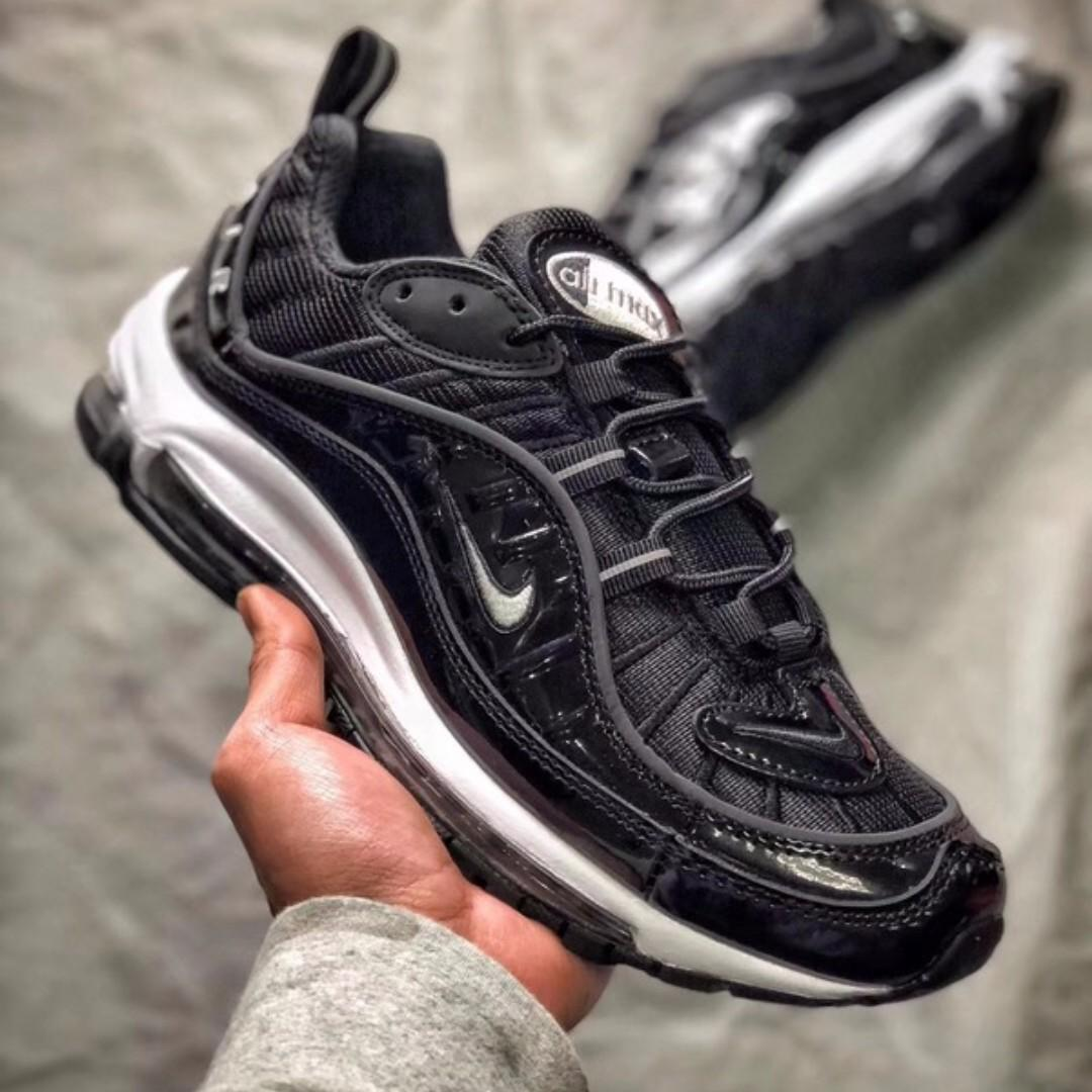 cheap for discount fa646 be46b Nike Air Max 98 - Black White on Carousell