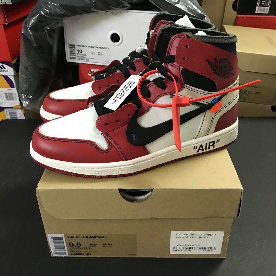 33fa53535133 Nike x Off White Air Jordan 1 Chicago US 9.5
