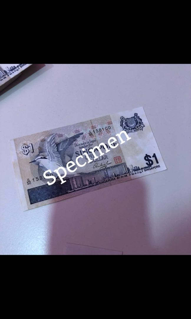 Old SGD$1 notes for sale  $5 per pc  I got more than 100 pcs to sell