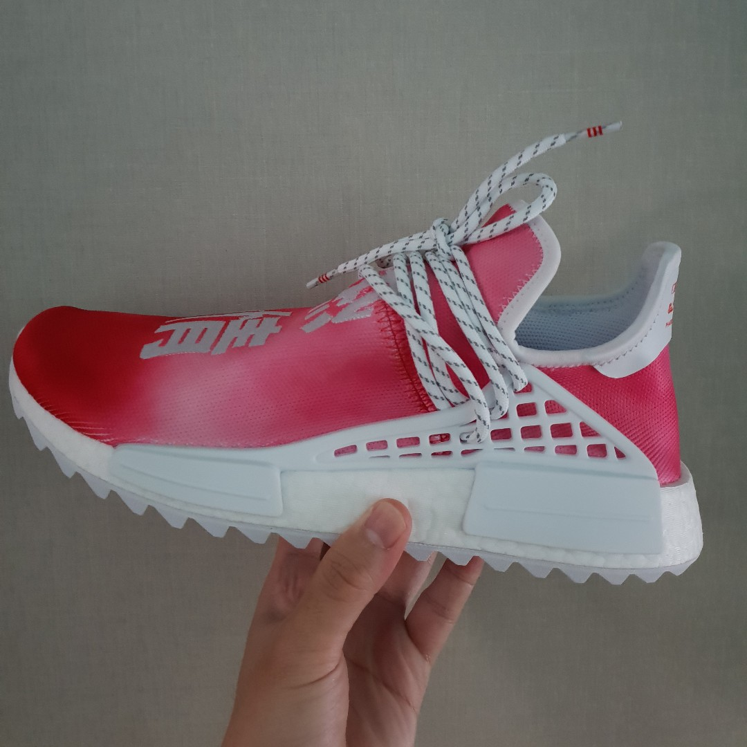 online store 391fe ca95c Pharrell Williams NMD China Passion Red Human Race
