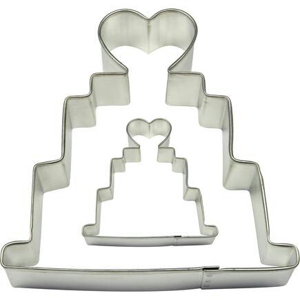 PME New Wedding Cake With Heart Topper 2 Piece Set Cookie Cutters Birthday Party Bake Baking Anniversary Home Appliances Kitchenware On