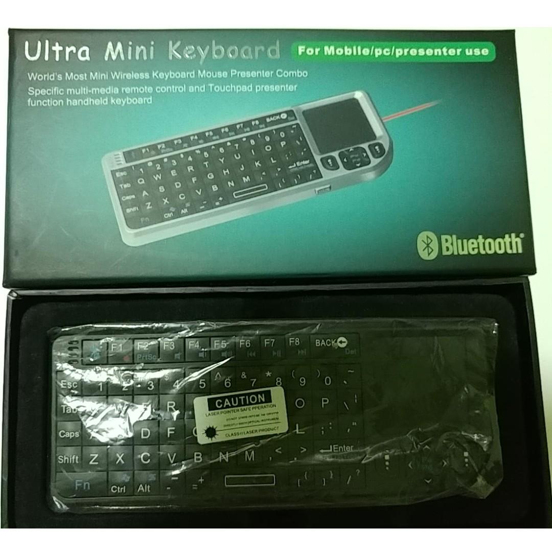 63248f4b3b1 RT-UMK-100-BT Ultra Mini Bluetooth 2.0 Wireless Keyboard Mouse ...
