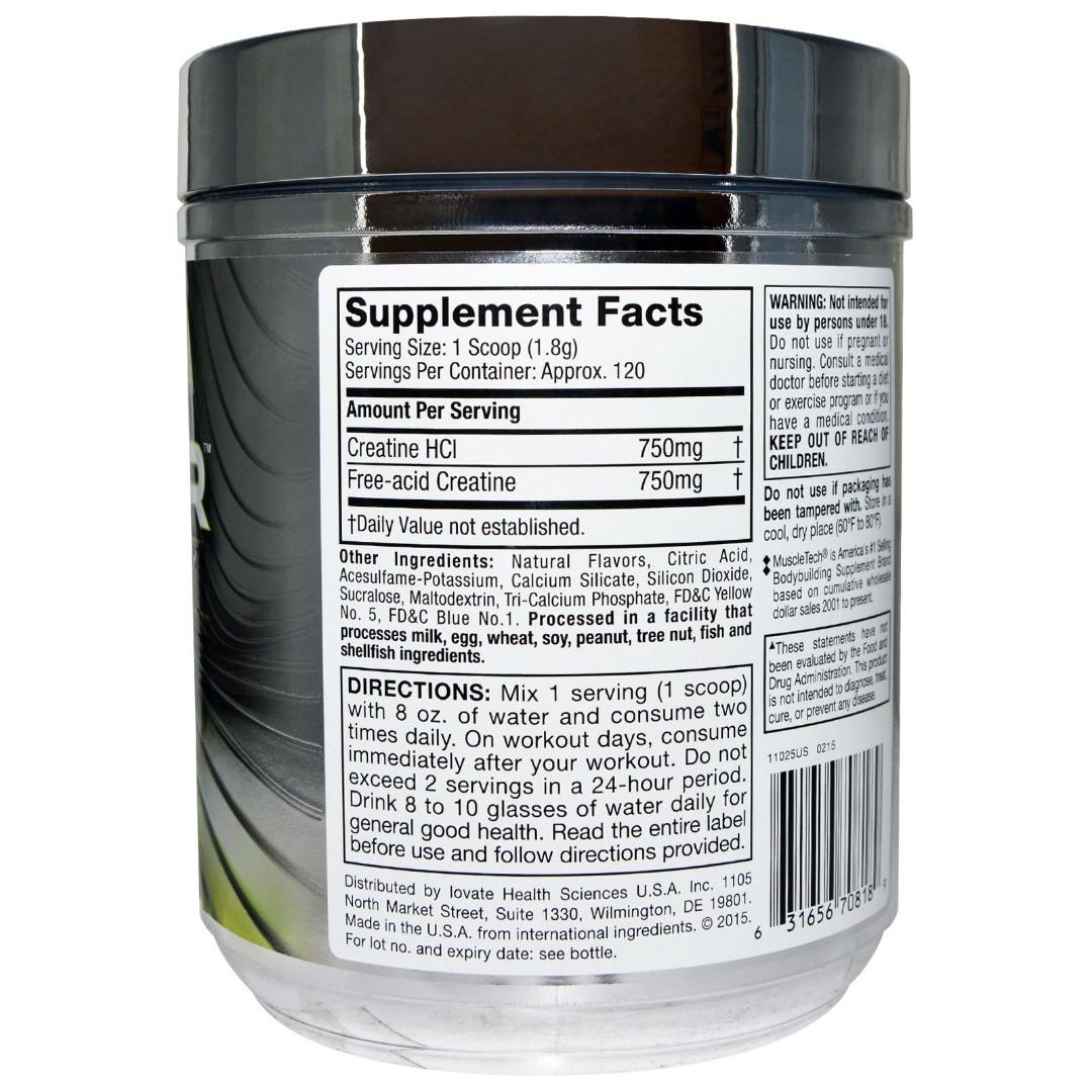 Sale Muscletech Creactor Creatine Formula Lemon Lime Twist 776 Platinum 400 Gram Oz 220 G Sports Weights Gym Equipment On Carousell
