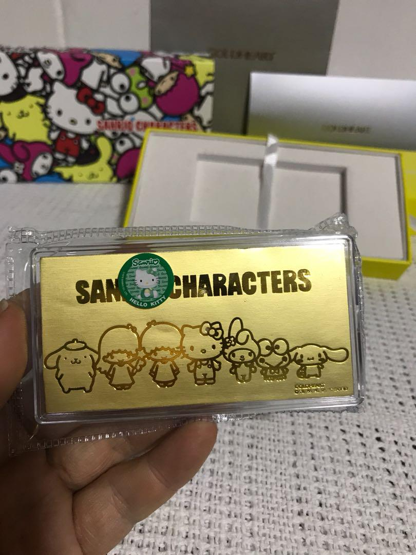Sanrio characters Hello Kitty gold bar