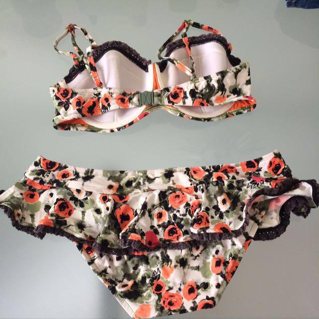 Seafolly floral frill bikini