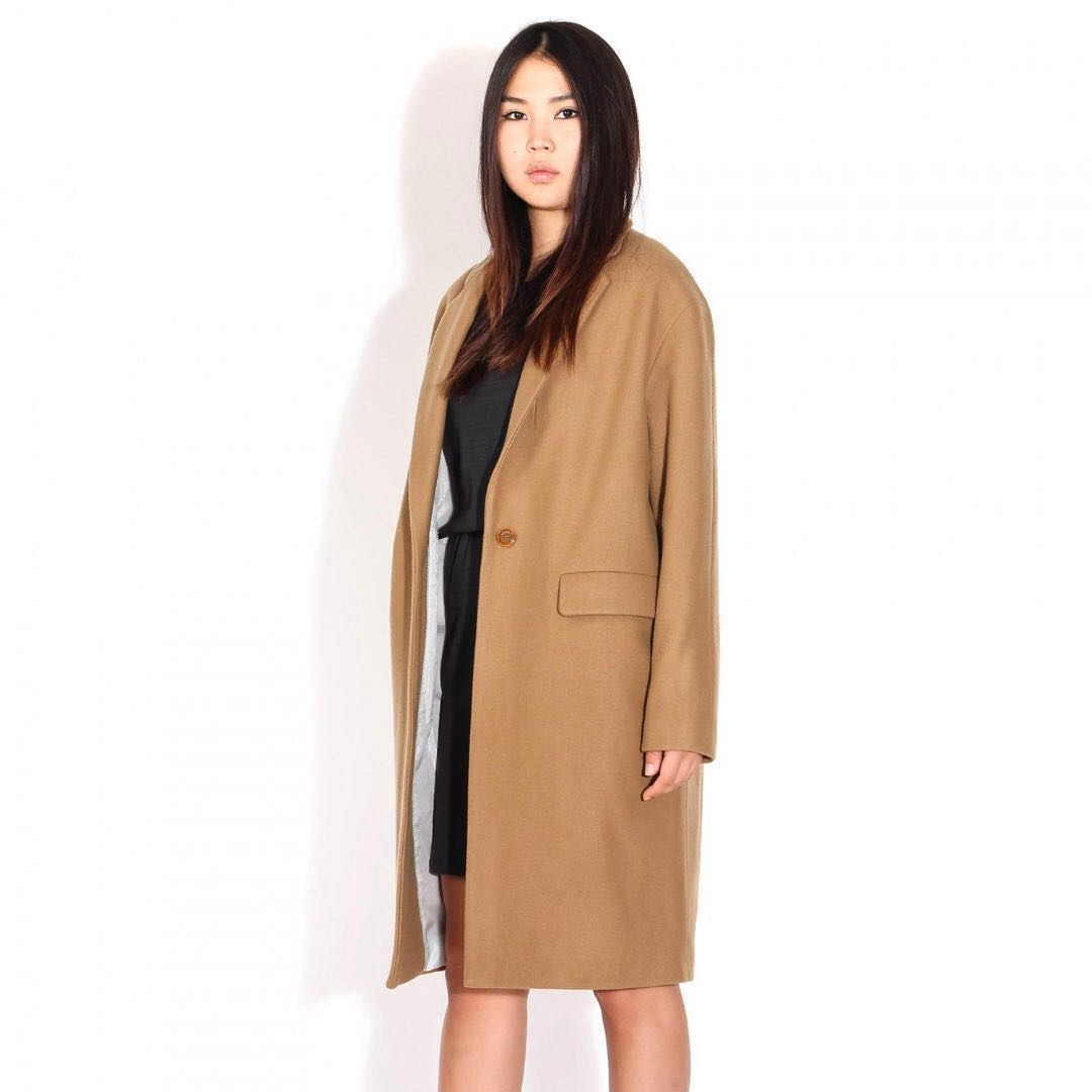 67eaae4dc35f7 Sessun Harry Longline Coat in Camel NEW, Women's Fashion, Clothes ...