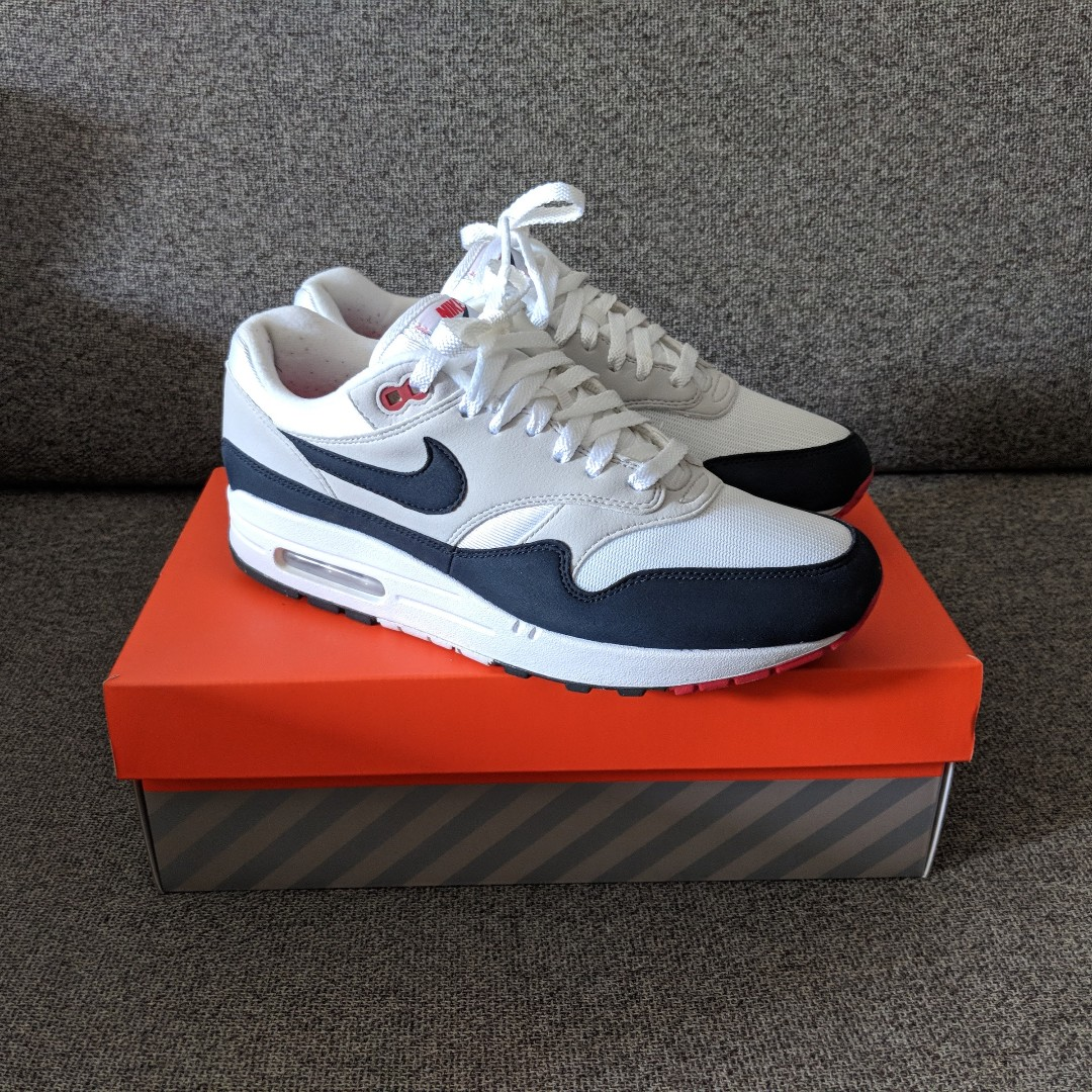 promo code f4625 527fb US8 Nike Air Max 1 Anniversary OG Obsidian, Men s Fashion, Footwear,  Sneakers on Carousell
