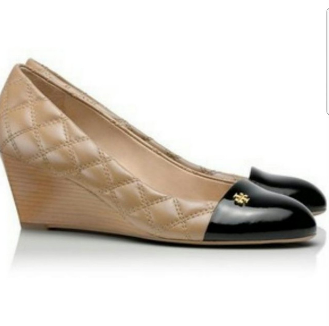 f52534364bbed9 (Was  500) Tory Burch Claremont Wedges