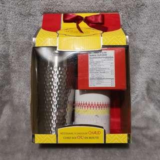 Stainless Steel and Ceramic Mug Hot Chocolate Set