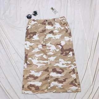 Choco Army Skirt