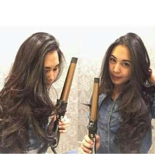 Catok rambut 2in1 curly & straight