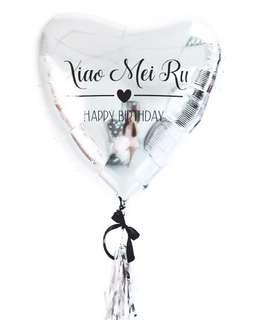 🚚 Customized Birthday balloon (HEART)
