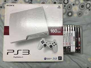 Sony PS3 160GB 2500A 日版 跟8隻games