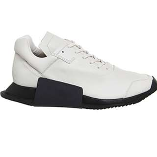 ADIDAS X RICK OWENS RO Level Runner II leather trainers