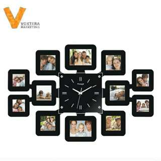 Clock with frames photo