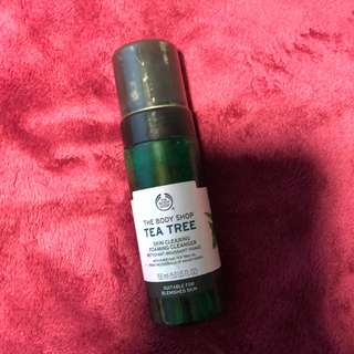 Tea tree oil facial foam cleanser