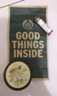 The Body Shop (Body Butter Moringa + Lip Care vit E)