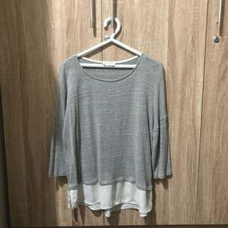 [STRADIVARIOUS] Gray Knit Sweater
