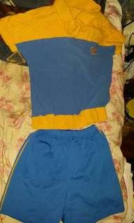 保良局小學夏天運動服,全套計,(衫size34, 衭size14), 合小二、三、四用, 屯門交收