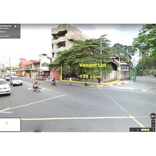 For Sale Corner Lot in Horse Shoe corner Col Boni Serrano Ave New Manila Quezon City