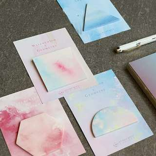 P.O.Sticky Note (set of 4) watercolor