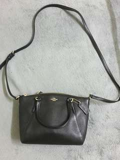 AUTHENTIC COACH MINI KELSEY SATCHEL IN PEBBLE LEATHER