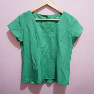 Green Office Blouse