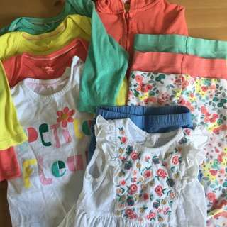 M&S Girls 10 Piece Bundle 6-9 Months