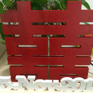 RENTAL: D147 DOUBLE HAPPINESS TABLE DECOR