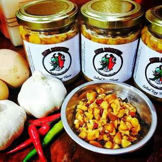 2 Jars Salted Egg Crispy Chili Garlic Sauce by Chef Len