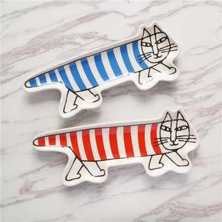 。Lisa Larson經典貓咪盤。兩色
