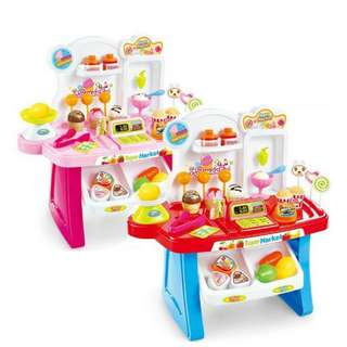 Ready Stock Promotion-Children Mini Market Educational Pretend Play Set
