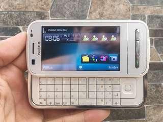 Nokia C6 White Normal Hp Jadul Slide Klasik Handphone Nostalgia