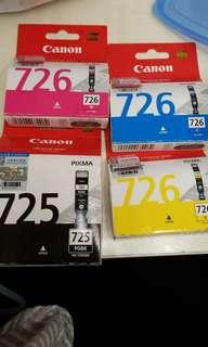 Canon ink 725 & 726 (有大量)
