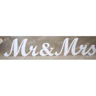 RENTAL: D149 MR & MRS TABLE DECOR